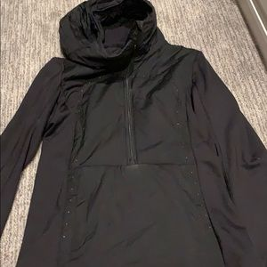 Lululemon half zip black jacket size 4 no tag